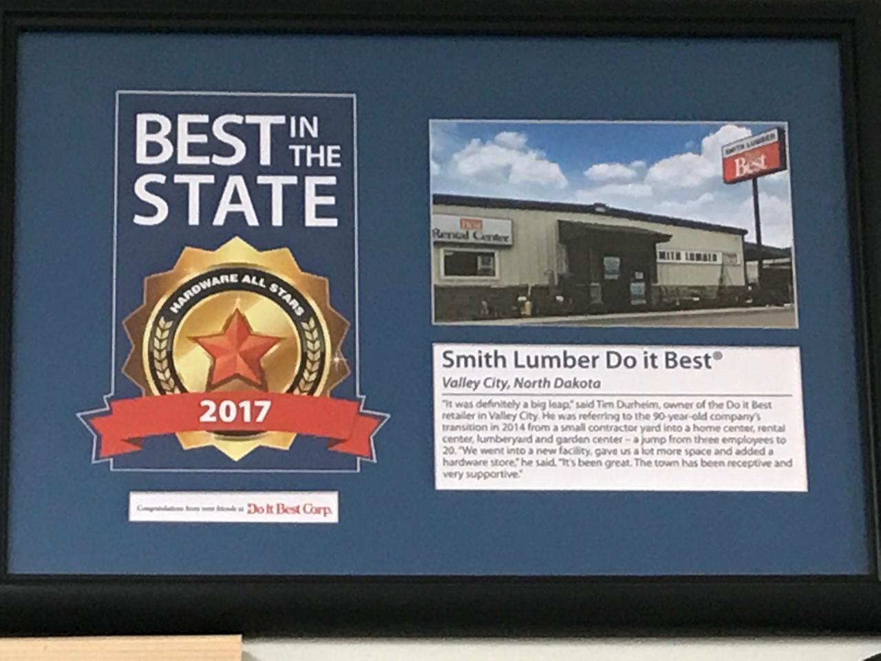 Smith Lumber - Best in State