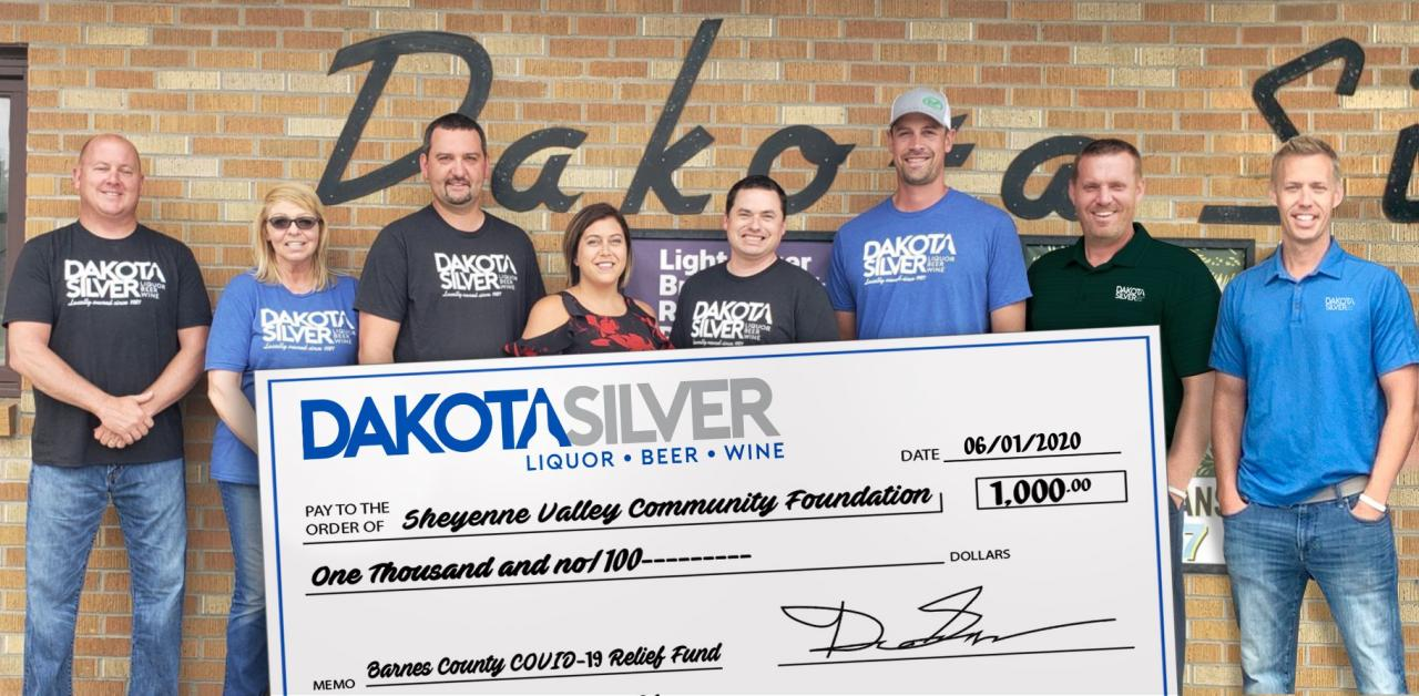 Dakota Silver gives back to the Barnes County COVID-19 Relief Fund
